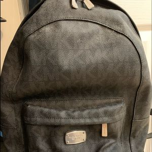 MK black monogram backpack